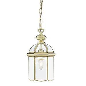 Bevelled Glass Domed Polished Brass 1 Light 5131Pb