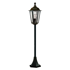 Black 1 Light Post Lamp. Ip44 82504Bk