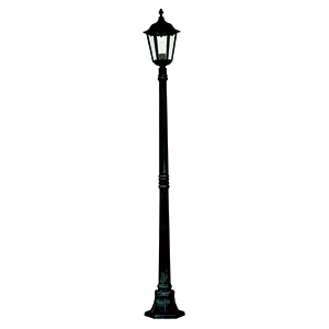 Black 1 Light Post Lamp. Ip44 82508Bk
