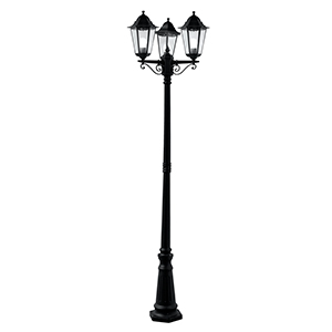 Black 1 Light Post Lamp. Ip44 82540Bk