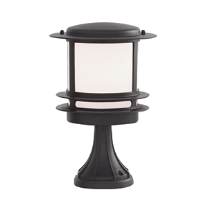 Black Alluminium Post Lamp. Ip44  1264