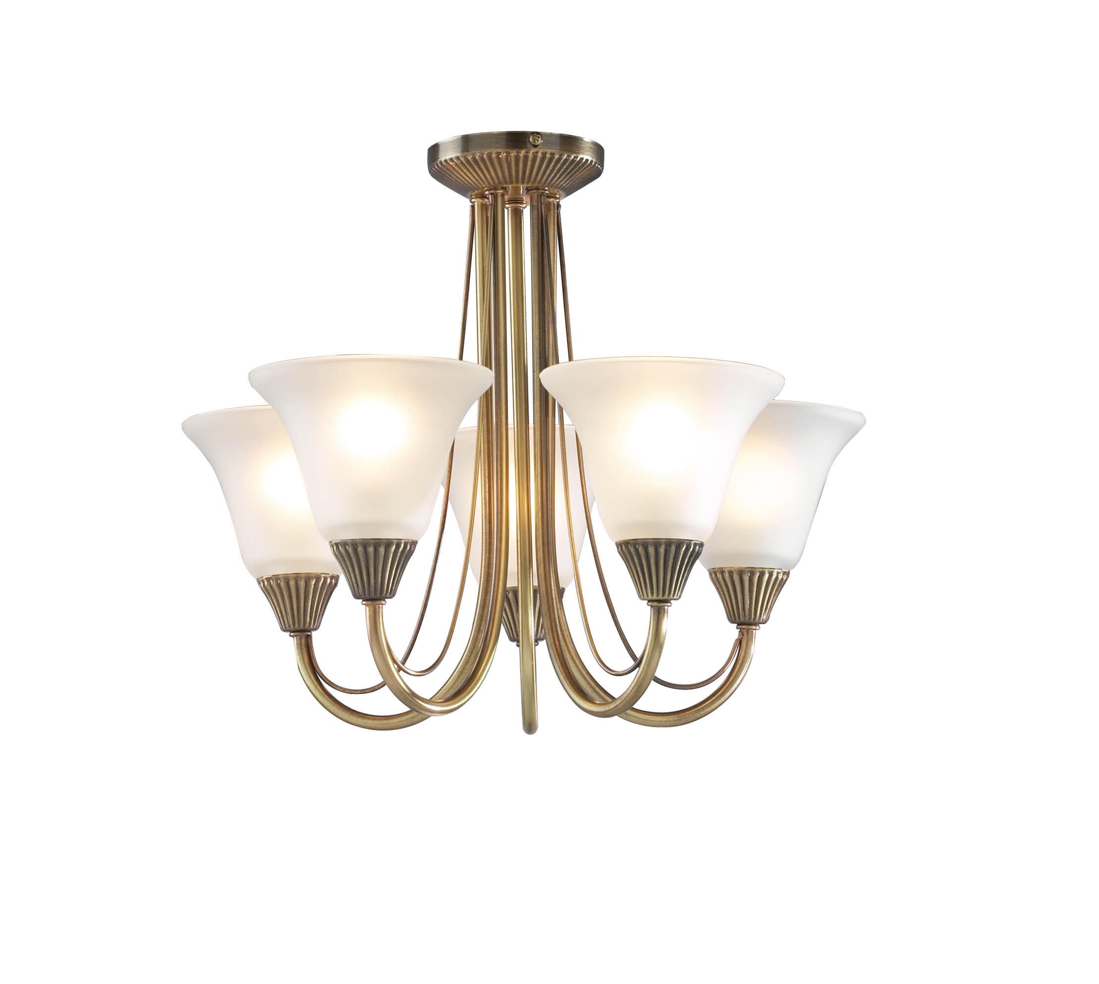 Boston 5 Light Antique Brass Ceiling 030082 Bos05