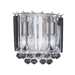 Chrome 2 Light Acrylic Wall Bracket 6711-2Cc