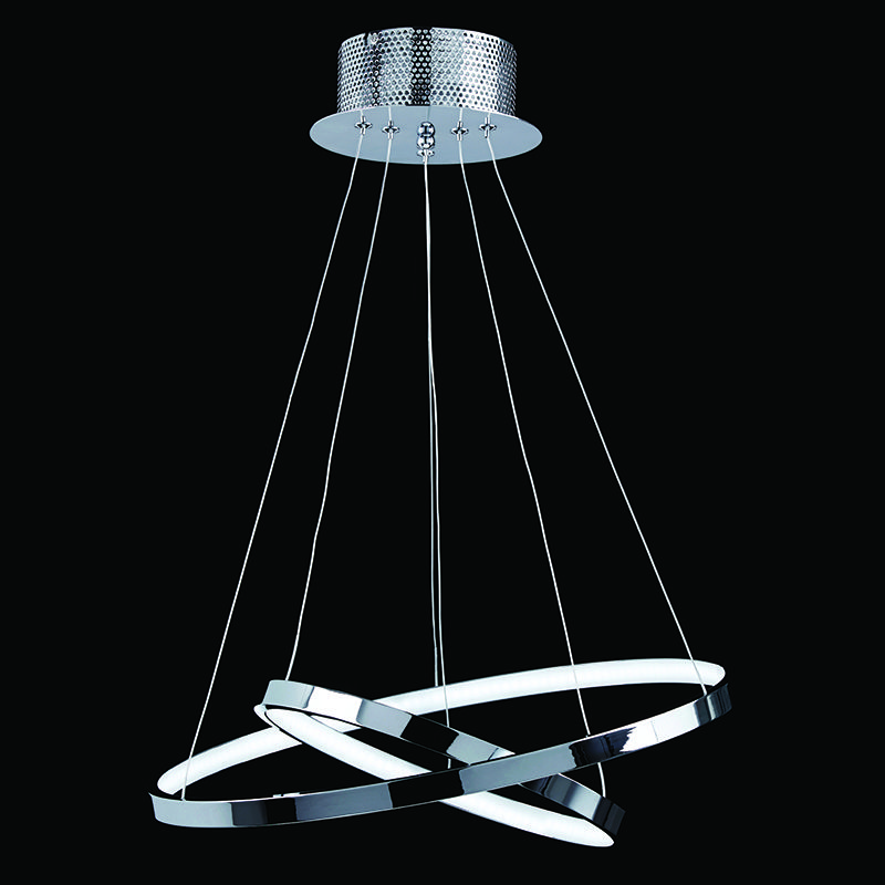 CHROME LED CEILING FITTING WITH 2 CIRCLES BXKLINE-2CH-17 (Class 2 Double Insulated)