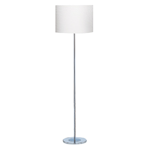 Chrome Round Base Floor Lamp - Ivory Shade 7550Cc (Class 2 Double Insulated)