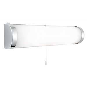 Chrome Wall Bracket With White Glass Tube 8293Cc