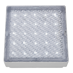 Clear 15Cm Square Walkover - White Led 20 Lumens (Class 2 Double Insulated) Bx9913Wh-17