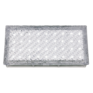 Clear Rectangle Walkover - White Led 80 Lumens (Class 2 Double Insulated) Bx9915Wh-17