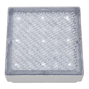 Clear Small Square Walkover - White Led Ip68 (Class 2 Double Insulated) Bx9914Wh-17