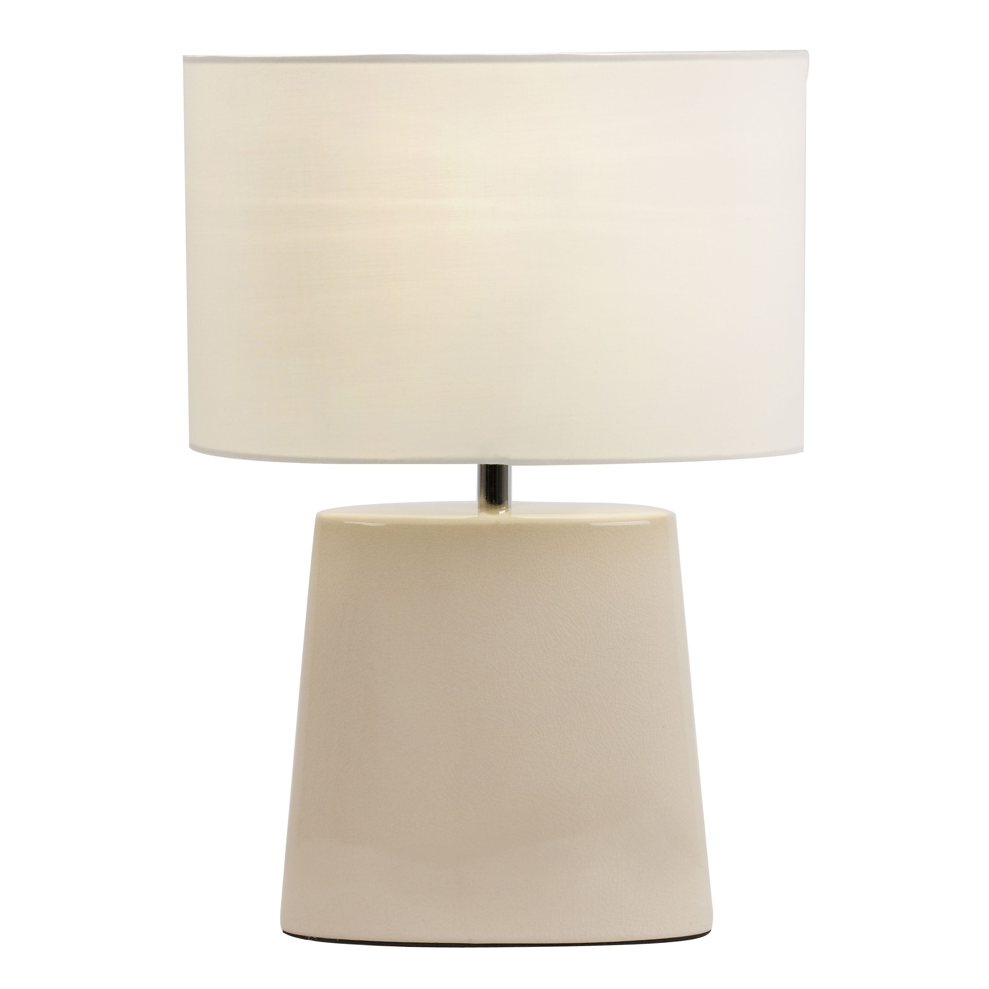 Ceramic table lamp with crackle glaze efect bxiris tlcr 17 class 2 double insulated