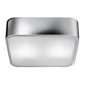 Chrome 2 Light Square Flush Fitting 25Cm 1030-30Cc
