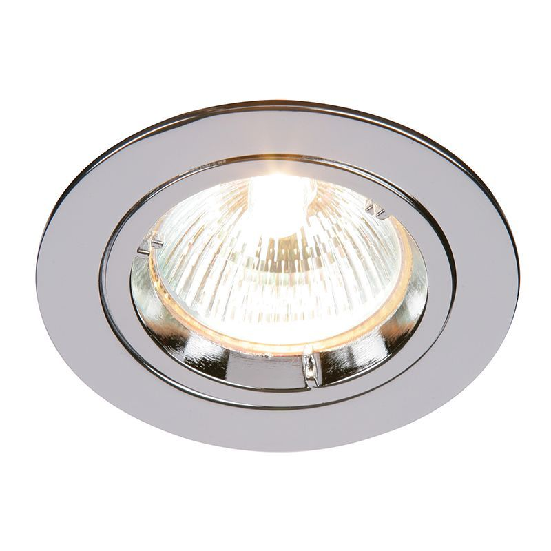 Chrome effect plate Recessed Light 52329 by Endon