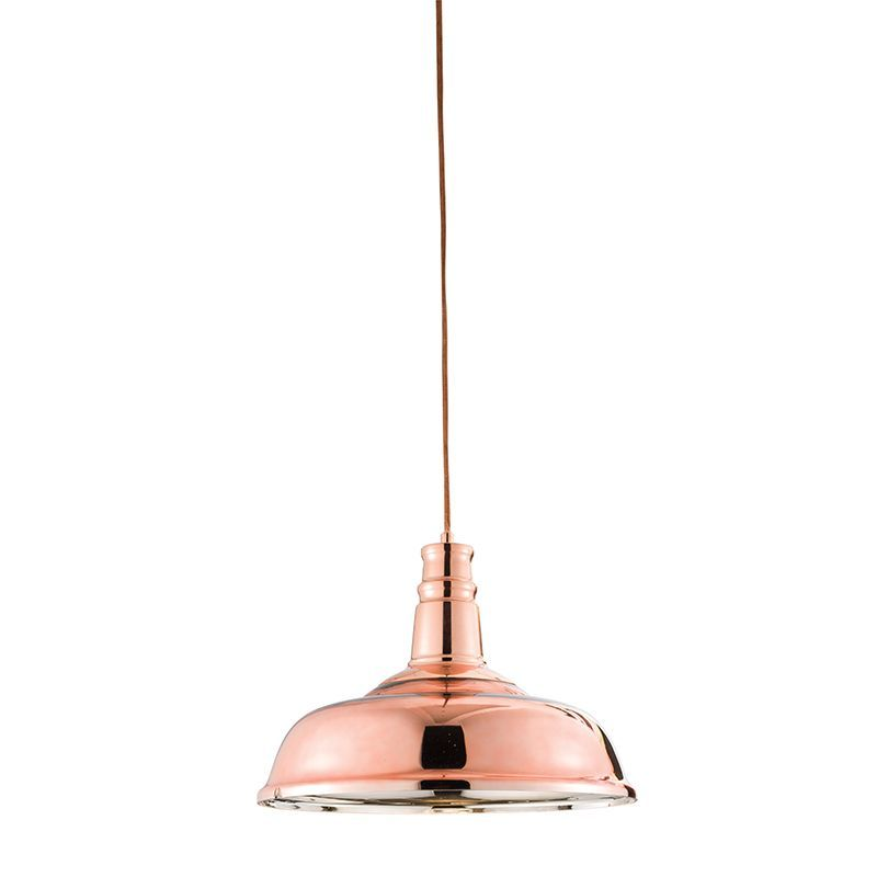 Copper plated glass & copper plate Pendant Light 61705 by Endon