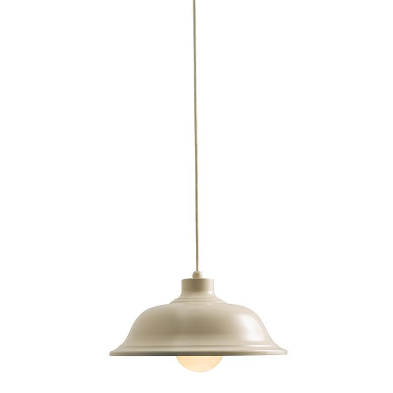 Country cream paint & cream braided flex Pendant Light 60888 by Endon