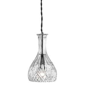 DECANTER 1 LIGHT ROUNDED GLASS  PENDANT (Class 2 Double Insulated) BX4981-17