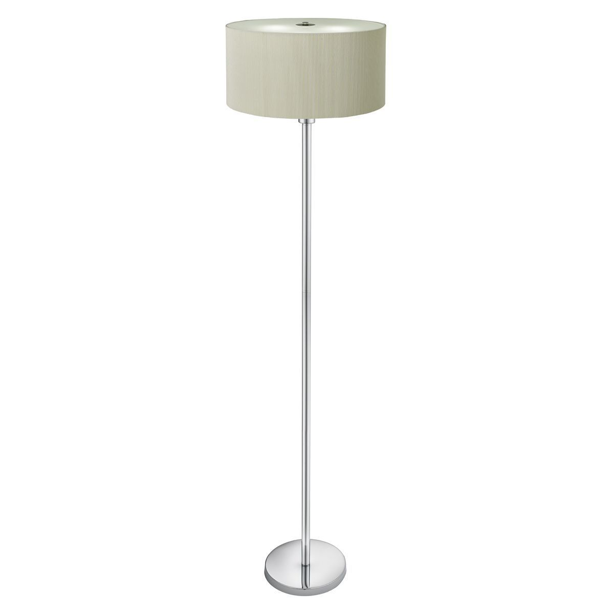 drum pleat 3 light floor lamp cream pleated shade frosted glass diffuser 5663 3cr. Black Bedroom Furniture Sets. Home Design Ideas