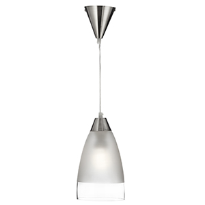 Dome Pendant Clear/Sanded Band + Suspension 7702