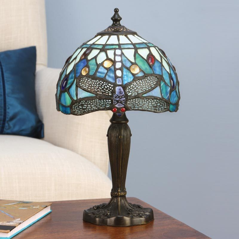 Dragonfly Blue Small Table Lamp T009TS (Tiffany style)
