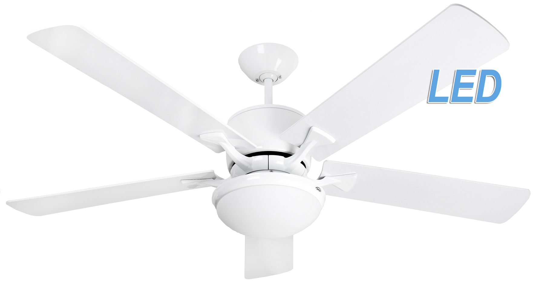 Fantasia Delta Elite 52 White Ceiling Fan Remote Control Led Light 115755