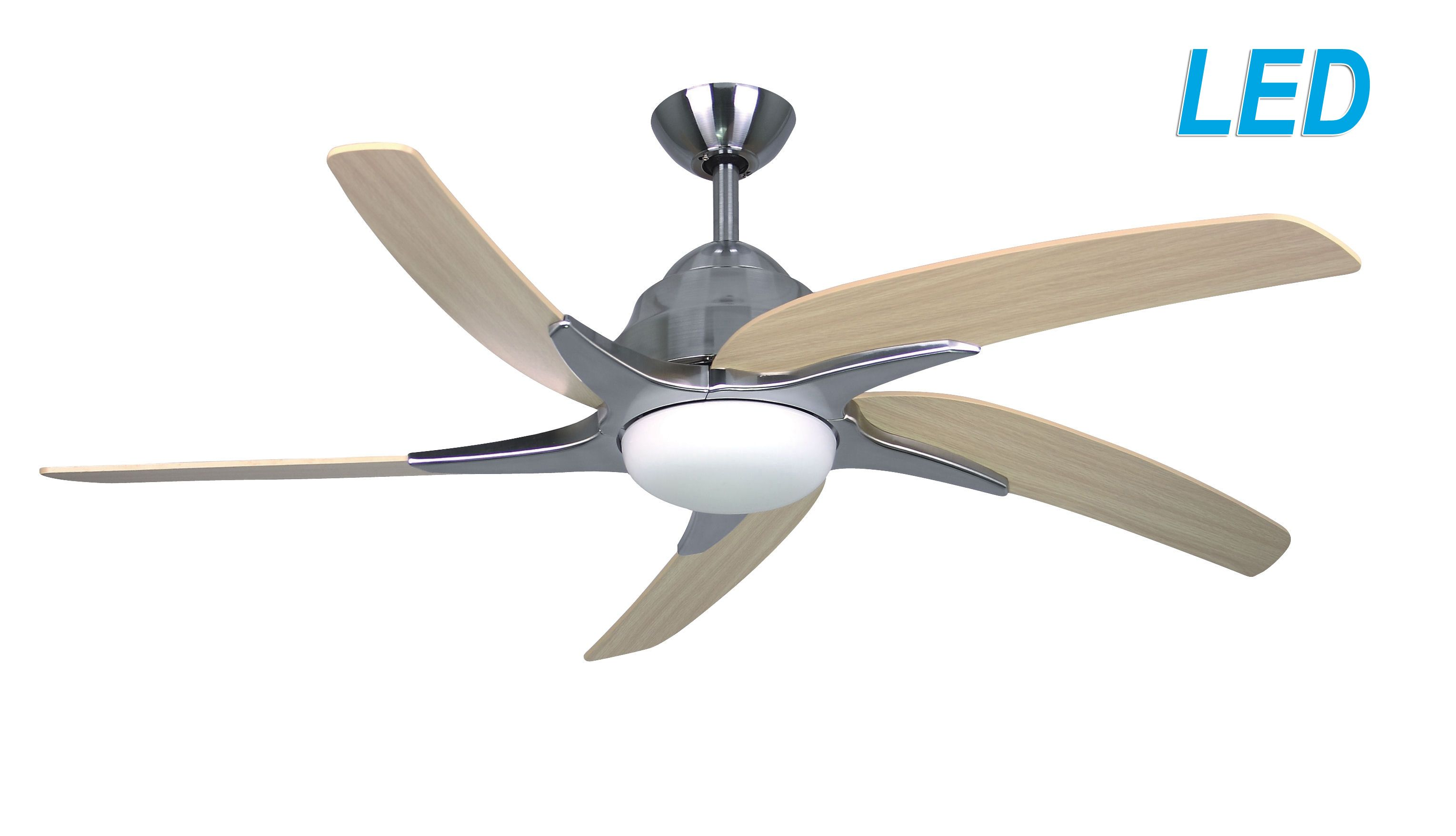 Fantasia Elite Viper Plus 44 Stainless Steel Ceiling Fan Remote Control Led Light 116028
