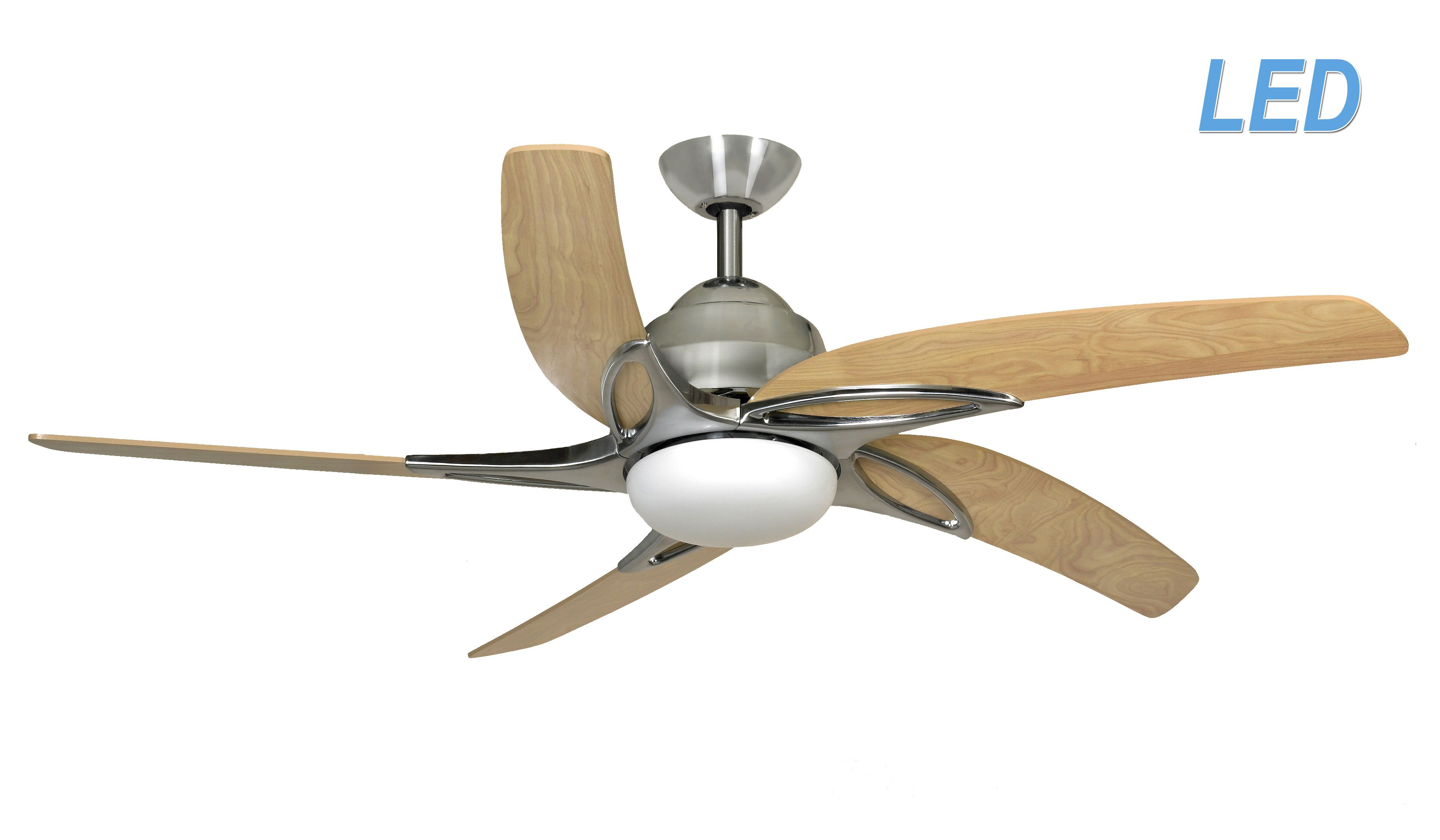 Fantasia viper 54 stainless steel ceiling fan remote control led fantasia viper 54 stainless steel ceiling fan remote control led light 115687 mozeypictures Choice Image