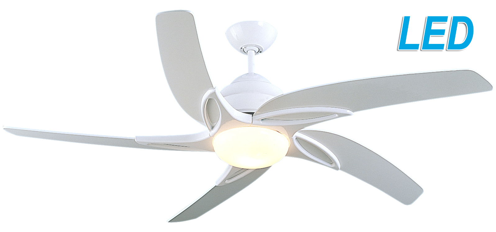 Fantasia viper 54 white ceiling fan remote control led light 115663 fantasia viper 54 white ceiling fan remote control led light 115663 aloadofball Choice Image