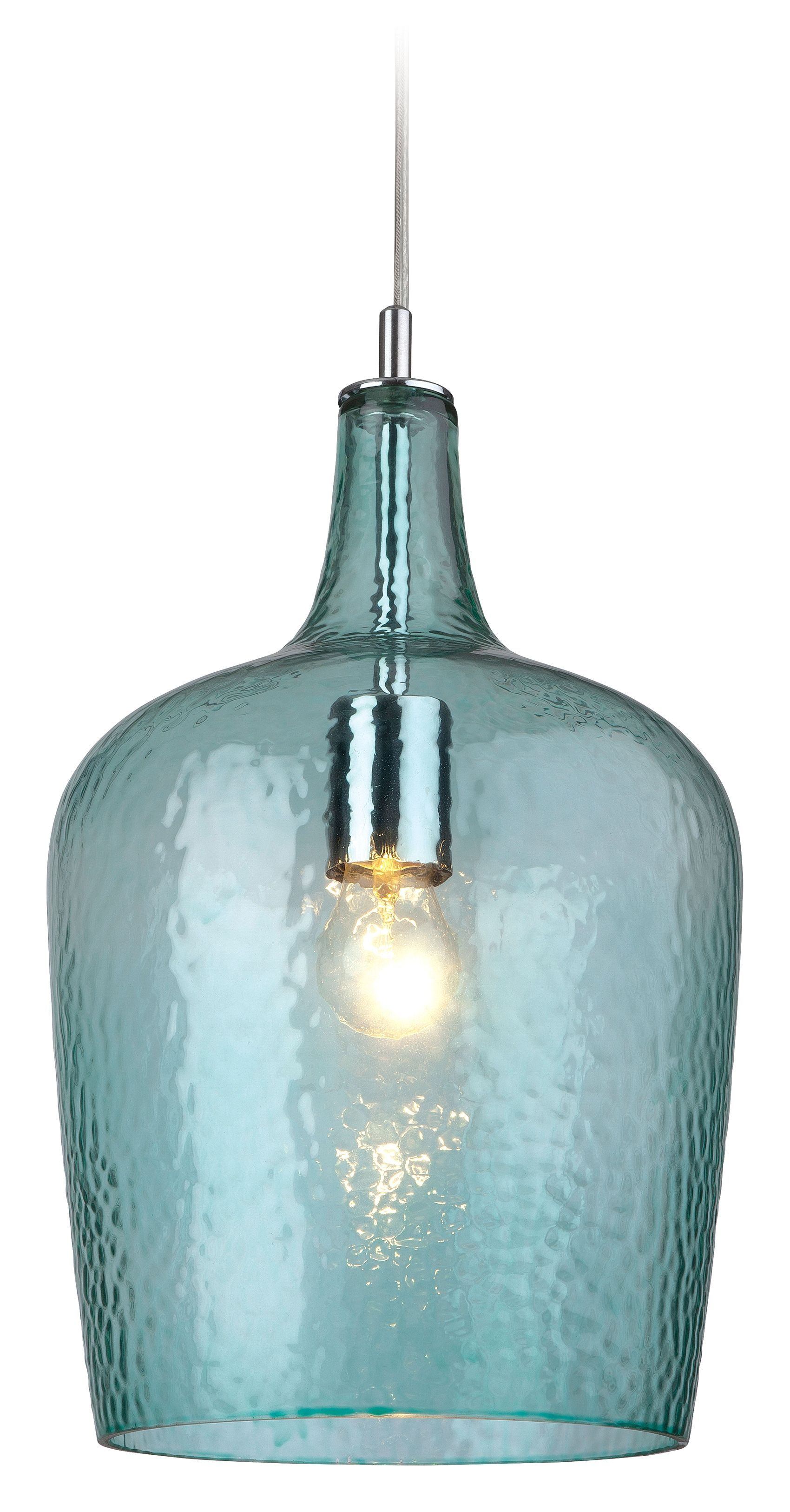 glass bubble pendant light heavy patterned