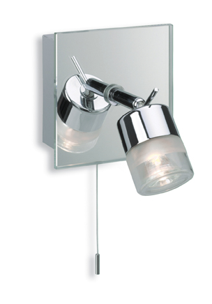 Firstlight 6095CH Chrome with Mirror Glass Ocean Single Spot (Switched)