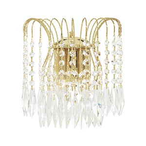 Gold Plated Wall Bracket Complete With Crystal 5172-2