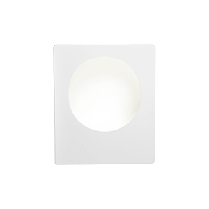 Gu10 Square White Plaster Wall Light (Class 2 Double Insulated) Bx8791-17