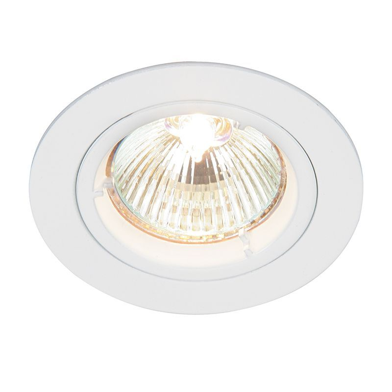 Gloss white Recessed Light 52331 by Endon