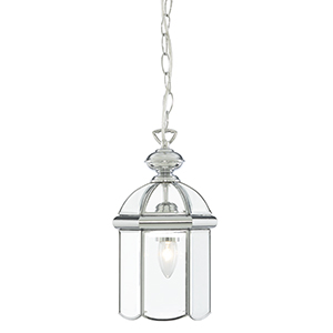 Lantern - Bevelled Domed Chrome 1 Light 5131Cc