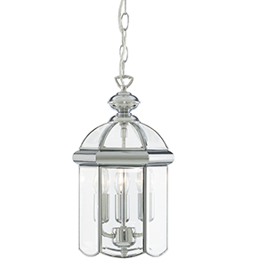 Lantern - Bevelled Domed Chrome 3 Light 5133Cc