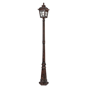Large 1 Light Brown Outdoor Post. Ip44 1574Br