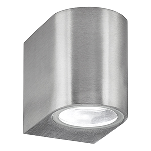 Led 1 Light Silver Outdoor Wall Lamp. Ip44 8008-1Ss