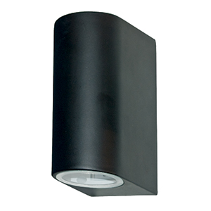 Led 2 Light Black Outdoor Wall Bracket -Gu10 35W. Ip44 8008-2Bk