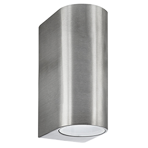 Led 2 Light Silver Outdoor Wall Lamp. Ip44 8008-2Ss