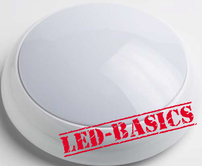 LED-Basics, Ceiling Light, Lunar 14W 2D LED Flush Light