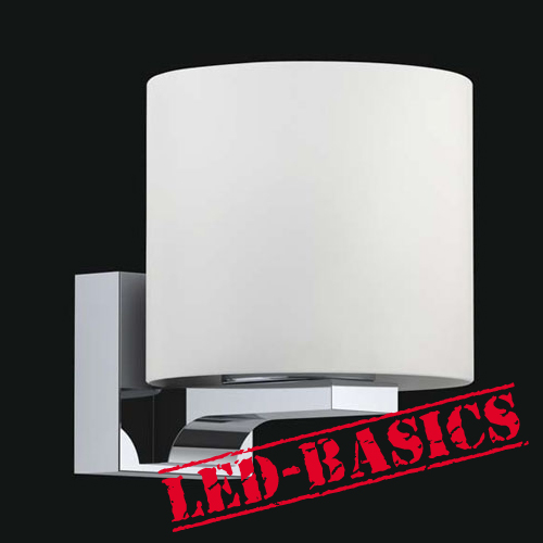 LED-Basics, Wall Lighting, Timor LED Round Glass Wall Light
