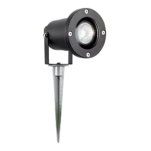 Led Directional Outdoor Spike Light. Ip44 5001Bk