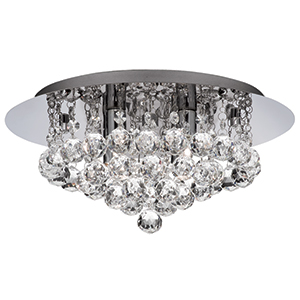 Led Hanna 4 Light Chrome Crystal Ball Light - Ip44 For Bathroom Use 4404-4Cc