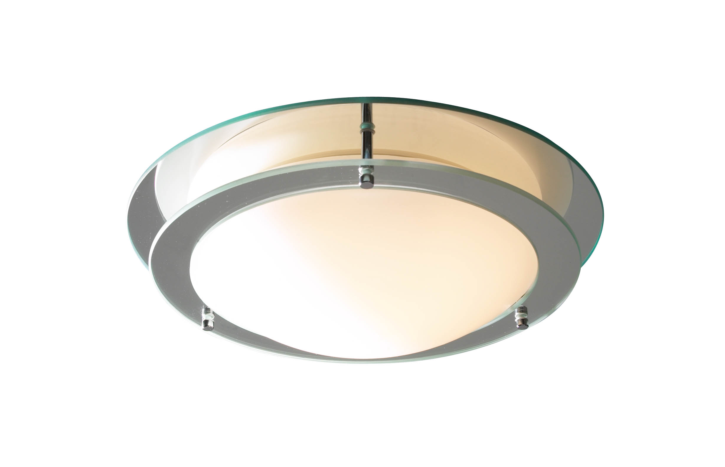 Libra Mirrored Glass Ip44 Flush Ceiling Light Lib50 050555