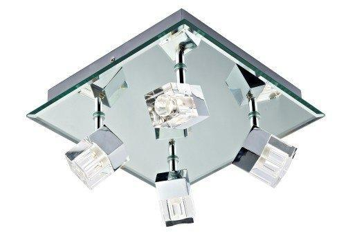 Logic 4-light Polished Chrome IP44 LED Spotlight Ceiling Fitting (Double Insulated) BXLOG8550/LED-17