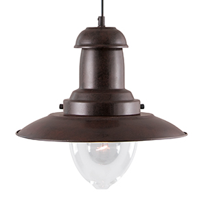 Rustic Fisherman Pendant Lamp With Clear Glass Shade 4301Ru