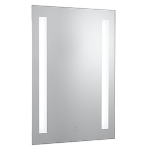 Silver Finish Bathroom Mirror + Touch Panel Sensor. + Shaver Socket Ip44 Rate For Bathroom Use 7450