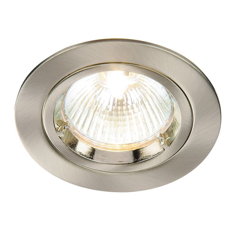 Satin nickel effect plate Recessed Light 52330 by Endon