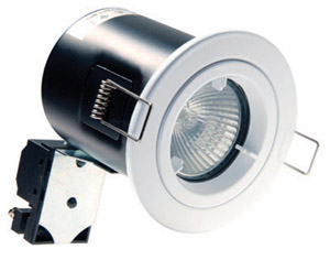Single (12V) FIXED downlight (fire & acoustic rated) + Transformer + Bulb