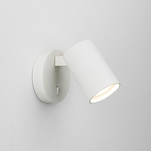 Ascoli Single Switched 7940 Textured White Wall Light (LED)