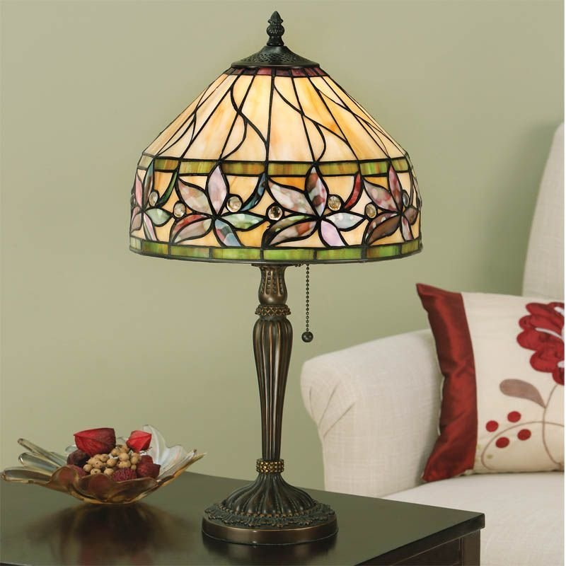 Ashtead Small Table Lamp (Art Nouveau, Tiffany Studio, Small Table Lamp) T046TS (Tiffany style)