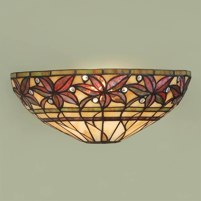 Ashtead Wall Light (Art Nouveau, Tiffany Studio, Wall Lamp) T046W (Tiffany style)